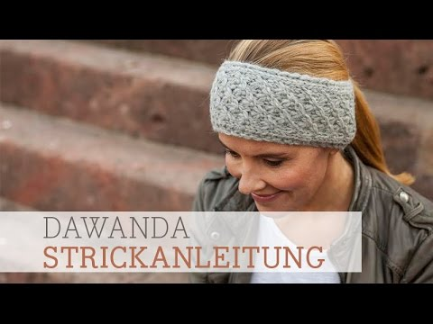 Dawanda Strickanleitung Stirnband Im Dornröschenmuster Youtube