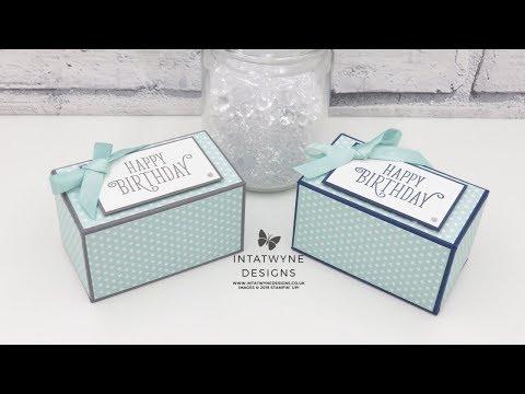 "3-1/2 X 2"" Gift Box Tutorial"