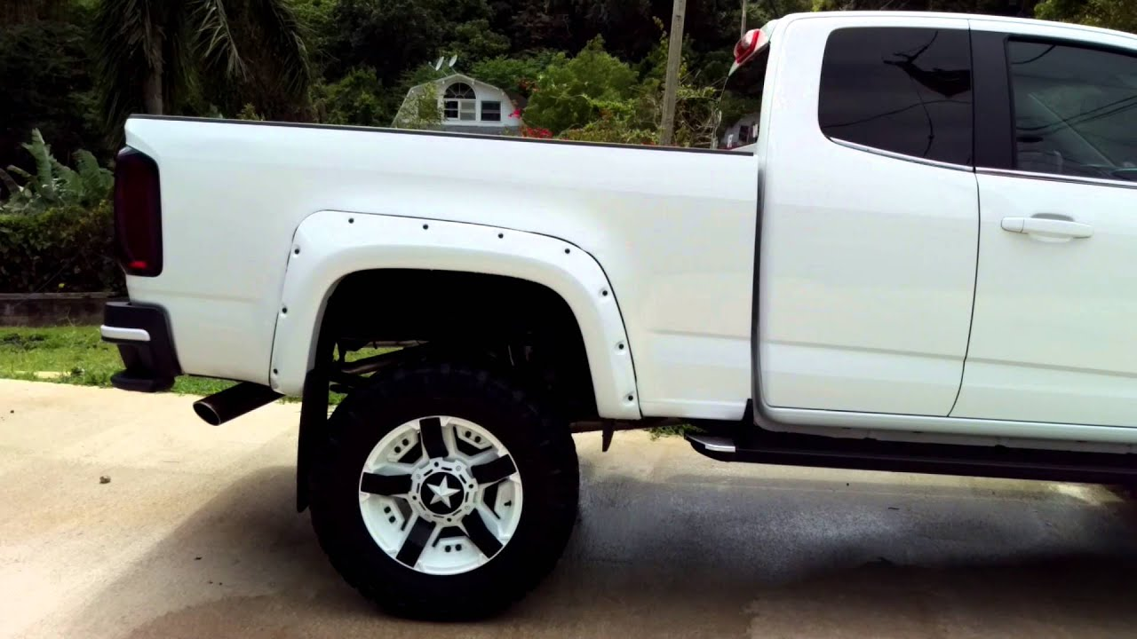 Lifted 2015 Chevy Colorado with flow master 40 Delta flow - YouTube