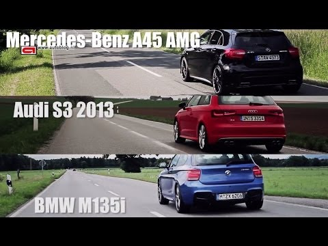 Audi S3 vs BMW M135i vs Mercedes A45