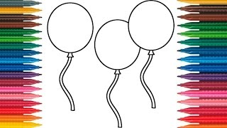 Drawing Balloons How to Draw Balloons Picture Balloons Coloring Book Fun Painting