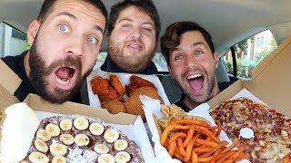 ULTIMATE PIZZA PARTY MUKBANG with JOSH PECK and JONAH!!