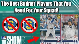 Best Budget Players You NEED For Your Team Great Cards For Cheap MLB The Show 19 Diamond Dynasty