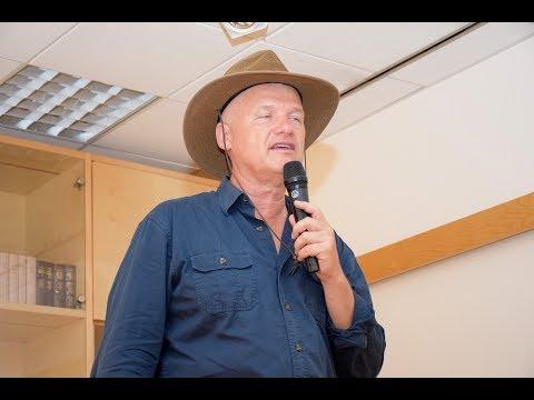 Dr Semir Osmanagić knjiga in predavanje o bosanskih piramidah Knjižnica Domžale, 29 5 2017