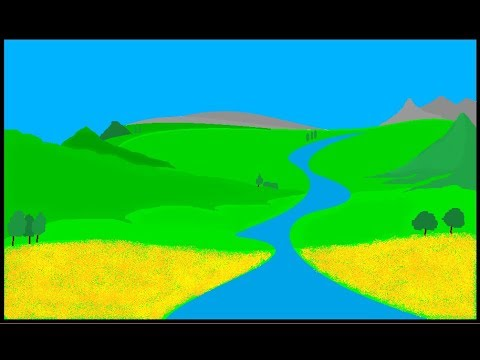 How to draw a Landscape in MS Paint – ComeTube Children Special
