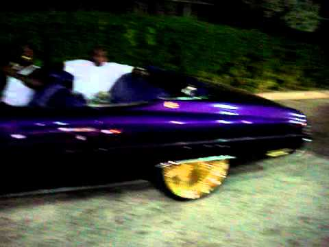 """1975 CHEVY CONVERTIBLE CANDY PURPLE ON 24""""GOLD DAYTONS ..."""