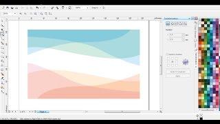 Desain Wallpaper/Background Bergradasi dengan CorelDRAW | Belajar CorelDRAW