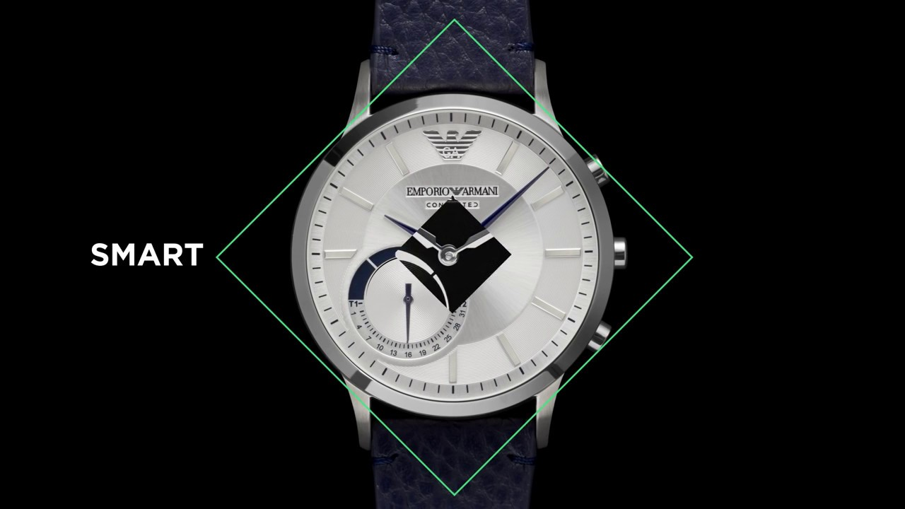 Emporio Armani Connected Hybrid Smartwatch - YouTube e63f5234397