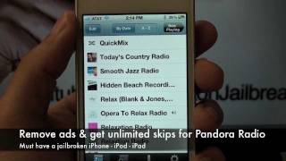 Get Unlimited Skips for Pandora Radio on iPhone/iPod/iPad for free [ HOW - TO ]