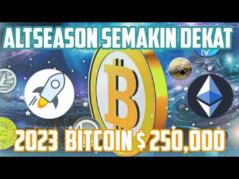 [SK70] Altseason Semakin Dekat; Tahun 2023 #Bitcoin Diyakini Bernilai $ 250,000!!!