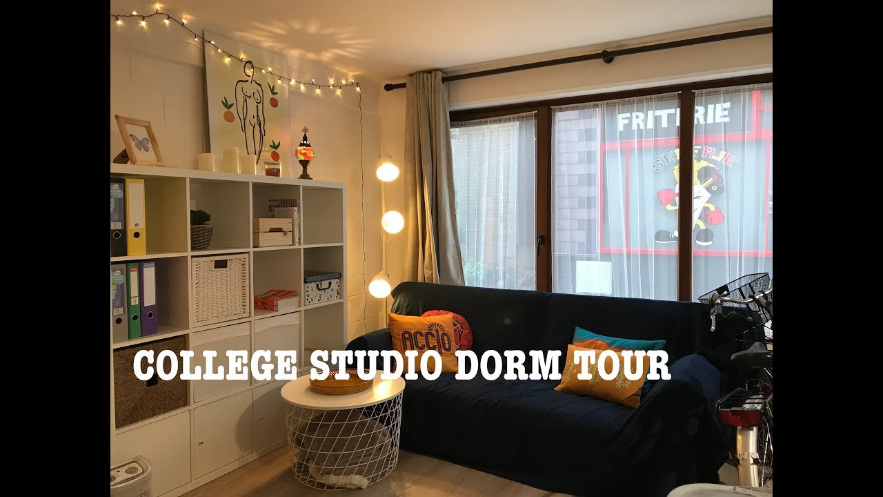 College Studio Apartment Dorm Tour Boho Minimalist Inspiration