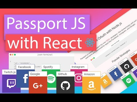 Login Authentications with React (Passport js)