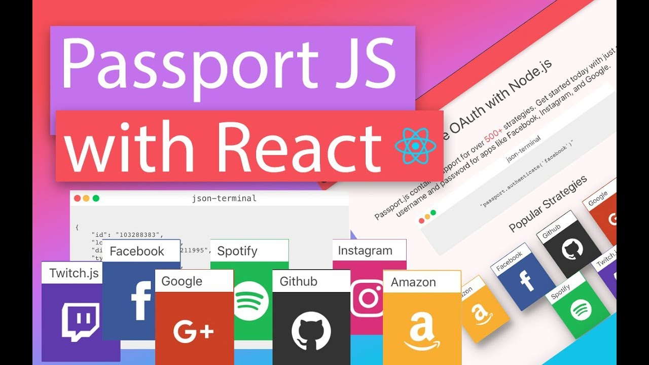 Login Authentications with React (Passport.js)