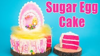 How to Make an Easter Egg Cake (Panoramic Sugar Egg Recipe)