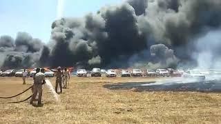 # TRENDING # BANGALORE#MASSIVE CAR PARKING FIRE ACCIDENT#