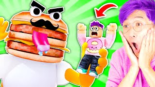 Can We Escape This FAST FOOD OBBY!? (MR. BURGER TRIES TO EAT US!)