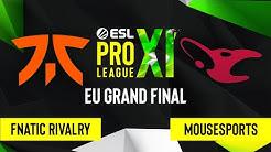 CS:GO - Fnatic Rivalry vs. mousesports [Mirage] Map 5 - ESL Pro League Season 11 - EU Grand Final