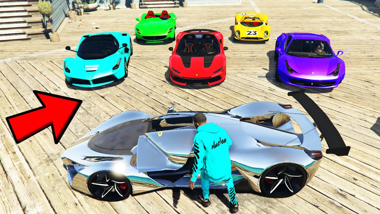 Stealing SUPER RARE BILLIONAIRE FERRARI'S in GTA 5! (GTA V Car Mods Collecting)
