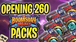 Opening 260 The BOOMSDAY PROJECT PACKS | The Boomsday Project Pre-Release | Hearthstone