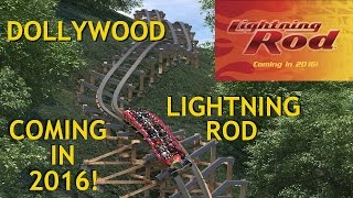 Lightning Rod COMING IN 2016! Dollywood NEW RMC Launched Wood Roller Coaster + Ride Renderings