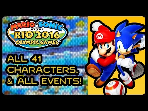 Mario & Sonic At The Rio 2016 Olympic Games (3DS) - All Characters & All Events!