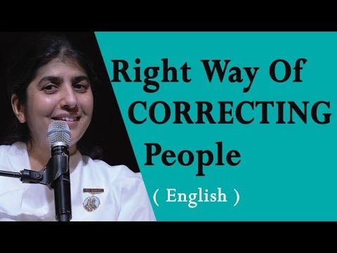 Right Way Of CORRECTING People: BK Shivani At Seattle, Washington (English)