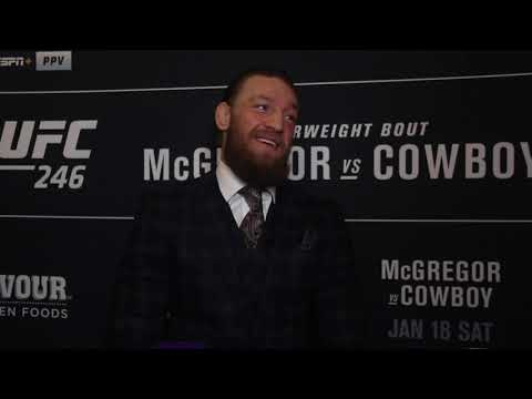 Conor McGregor Reflects On Good-natured UFC 246 Presser With Cowboy