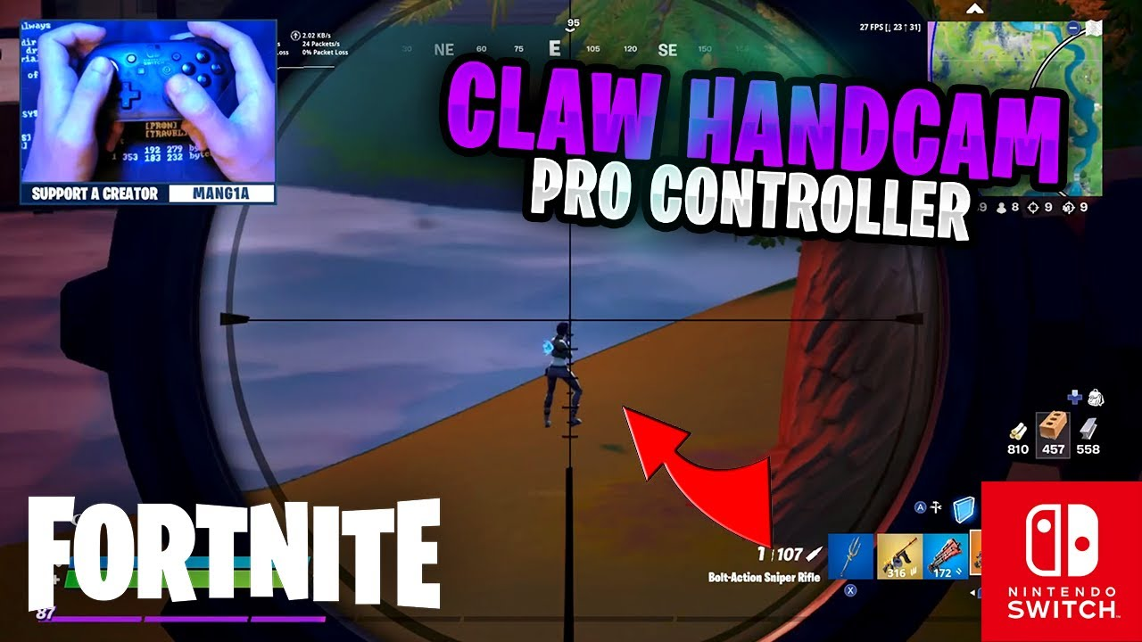 CLAW HANDCAM - Fortnite on the Nintendo Switch Pro Controller #79