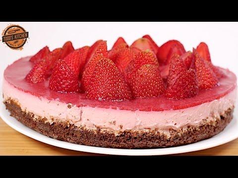 No Bake Strawberry Cheesecake recipe How to make DIY YouTube