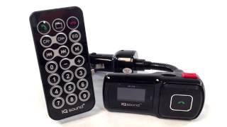 iq219 usb sd car kit bluetooth fm transmitter hands free mp3 player remote control