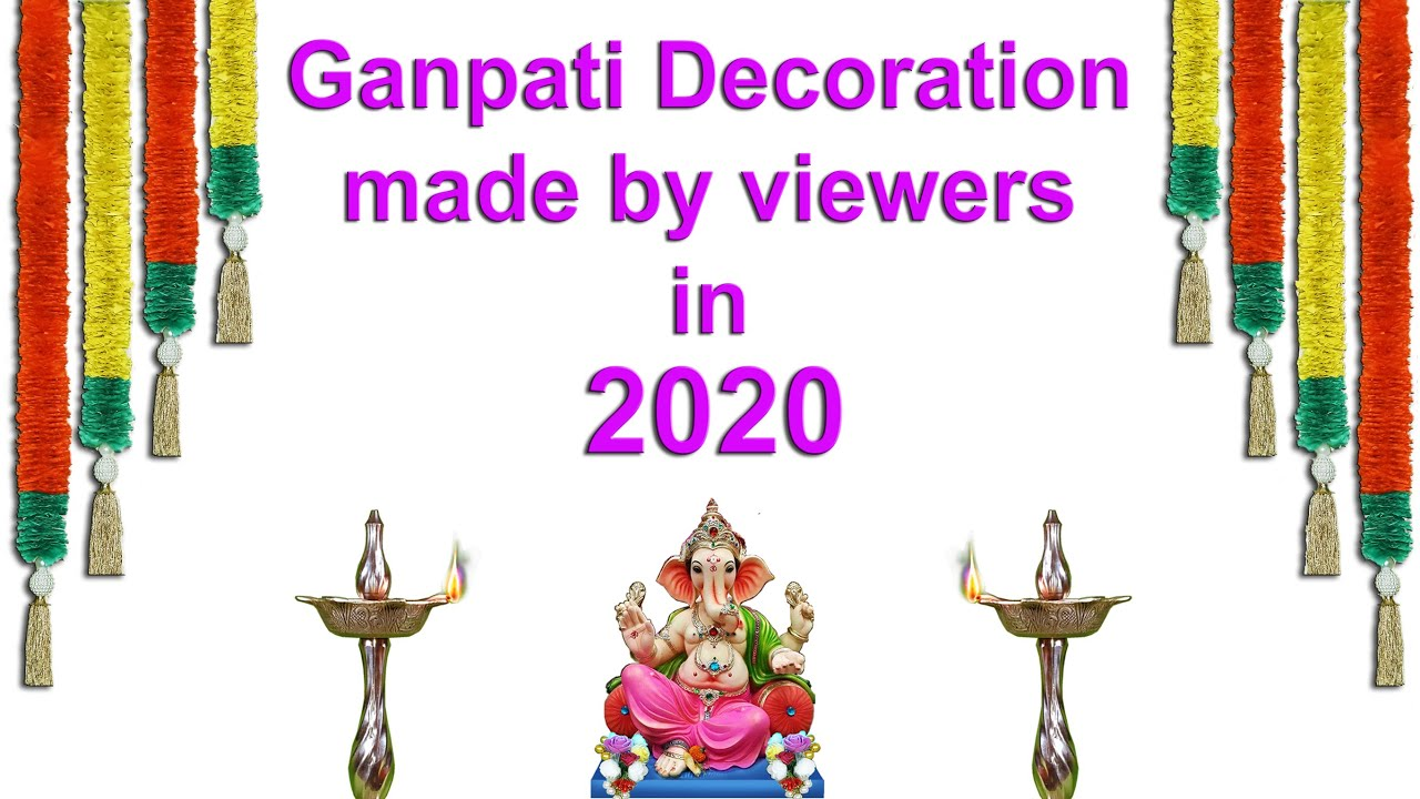 Ganpati decoration made by viewers in 2020