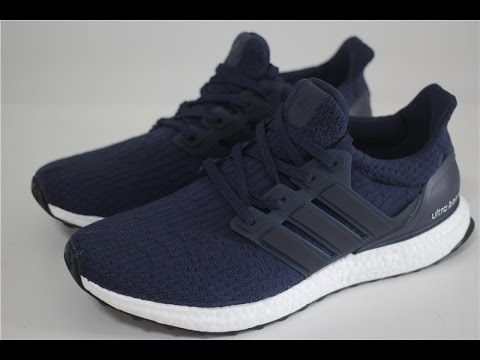 fbec9f27890 ADIDAS ULTRA BOOST 3.0 - BA8843 Navy Blue Ultraboost - YouTube