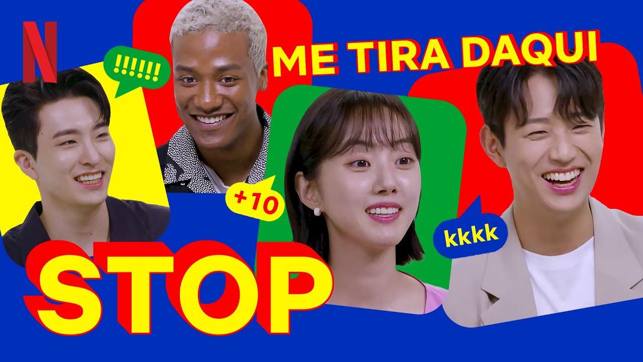 Elenco de Me Tira Daqui joga Stop em coreano   Netflix Brasil