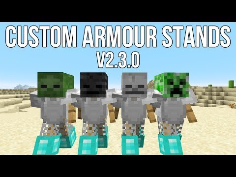 Minecraft: Custom Armour Stand Data Pack V2.3.0