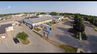 Rent Drone/Quadcopter: Aerial view of Big Ten Rentals in Iowa City