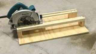 SIMPLE Circular Saw Cross-Cutting Jig