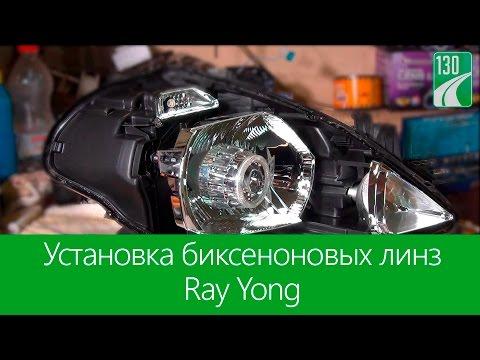 Установка биксеноновых линз Ray Yong 130.com.ua