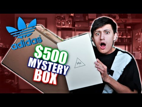 0780ef412 WHAT S INSIDE a  500 Adidas MYSTERY BOX  PHARRELL SNEAKERS! (UNBOXING!)