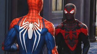Marvel's Spider-Man: Miles Morales PS5 Teams Up With Spider-Man (Spider-Man PS4)