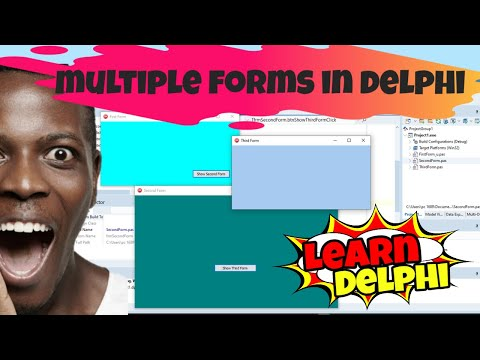 Delphi Programming Tutorial - Unit 5.2: Working With Multiple Forms In A Delphi Project