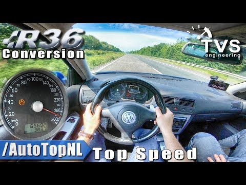 VW Golf MK4 R32 | 415HP R36 SUPERCHARGED | 275km/h AUTOBAHN POV By AutoTopNL