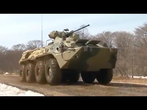 Обкатка новых бронетранспортеров БТР-82А в Приморском крае