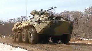 Обкатка нових бронетранспортерів БТР-82А у Приморському краї