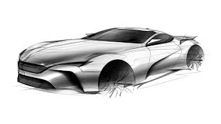 how to sketch a car(sports car)