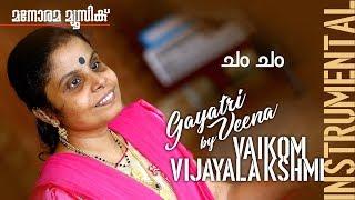cham cham film song on Gayathri Veena by Vaikom Vijayalakshmi