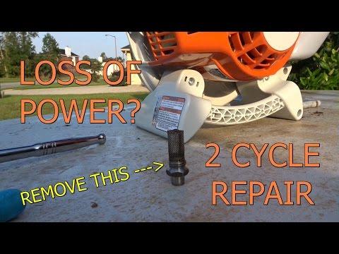 Stihl BG 86 Blower Exhaust Screen Removal Lawn Equipment Repair