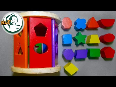 Learn shapes for kids with Melissa & Doug Match and Roll Shape Sorter - Classic Wooden Toy