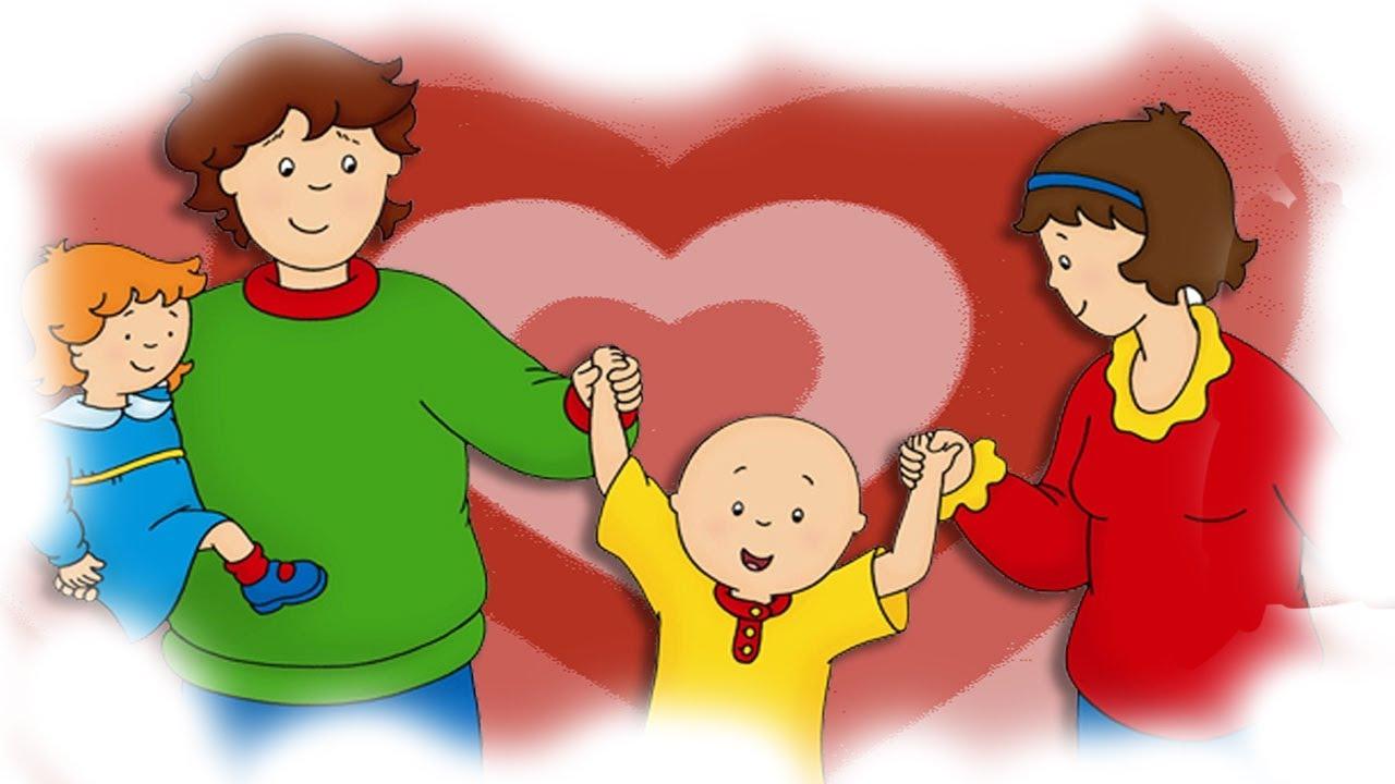 animated funny valentines cartoons cartoon caillou caillou s