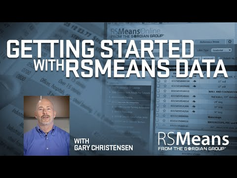 Getting Started with RSMeans Data
