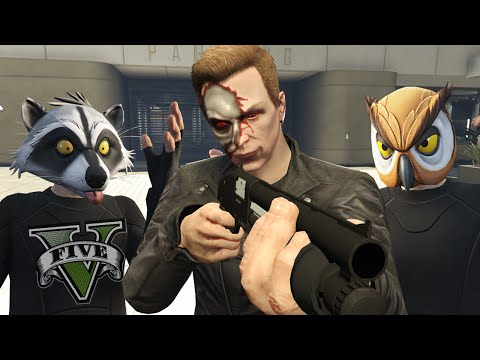 GTA 5 Online Funny Moments  The Terminator, Car Seat Ragdolls and Truck Launch Glitch!